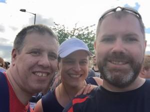 Lisburn 10k selfie Michael, Trevor, Karen McM