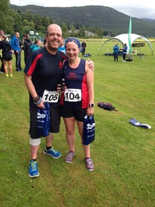 Karen and Phil at Ballater 10 mile
