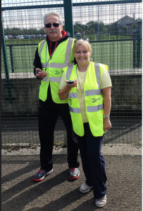 parkrun volunteers Dianne and Marian
