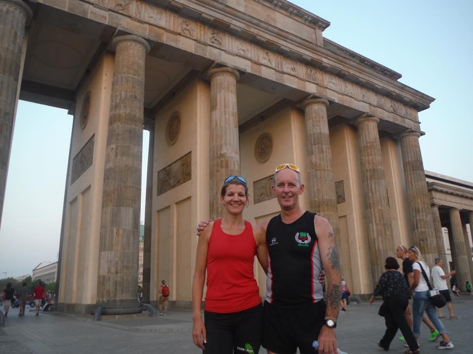 Berlin Wall 100 mile Gillian and Gary
