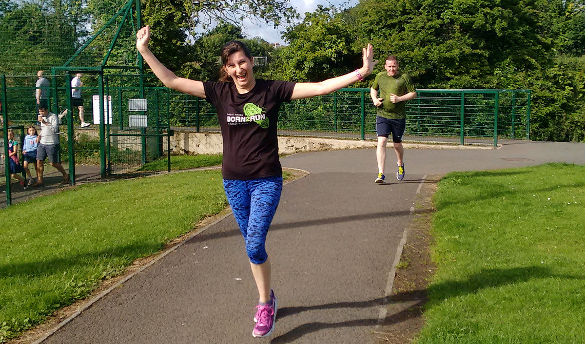 Glenda August parkrun double PB