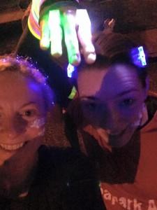 Julie Ann and Karen P Run in The Dark