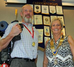Bobbie with Brenda Houston (president of Carrickfergus Rotary Club)