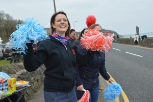 Ruth Hawkins Cheering at Larne