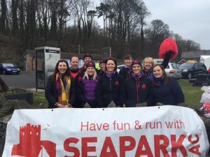 Seapark AC Cheering Squad at Larne